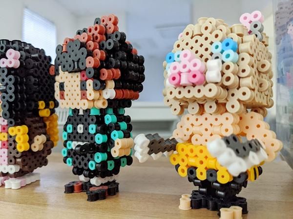 【画像】3D アイロンビーズ 炭治郎と伊之助